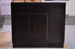 "36 Inch Shaker Style Espresso Bathroom Vanity Left Drawers Cabinet 36"""