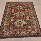 NEW TRIBAL 4x6 KAZAK HANDKNOTTED WOOL AREA RUG PAKISTAN