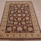 NEW 4x6 WOOL AREA RUG VEGETABLE DYE PERSIAN WINE IVORY