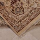 9x12 RUG PERSIAN VEGETABLE DYE IVORY YELLOW BLUE RUST