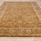 9x12 WOOL AREA RUG HANDMADE PERSIAN RUST CHARCOAL GOLD