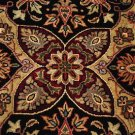 6x9 WOOL SILK RUG PERSIAN HANDMADE BLACK RED GREEN GOLD