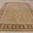 9x12 RUG HANDMADE VEGETABLE DYE CAMEL FAWN PESHAWAR NEW