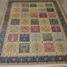 10x13 BLUE GOLD RED GREEN RUG SHAW ANTIQUITIES 3V012/81440 NYLON NEW PATCHWORK