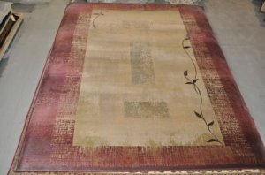 10x13 TAN RED AREA RUG OW GENERATION NEW MODERN TRANSITIONAL 544/13x