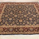 8x8 SQUARE WOOL HANDMADE AREA RUG PERSIAN BLUE RED NEW