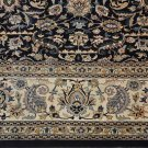 8 SQUARE WOOL HANDMADE AREA RUG PERSIAN NAVY BLUE IVORY