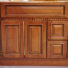 """36 Inch Heritage Style Caramel Bathroom Vanity Right Drawers Dentil Cabinet 36"""""""