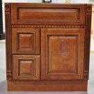 """30 Inch Heritage Style Caramel Bathroom Vanity Left Drawers Dentil Cabinet 30"""""""