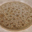 6 FOOT ROUND AREA RUG HAND TUFTED TWISTED WOOL SILVER