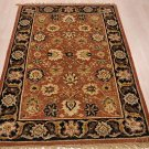 4x6 WOOL AREA RUG PERSIAN RUST BLACK HAND MADE TUFTED