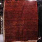 8x10 WOOL HANDMADE RUG RED RUST VEG DYE SOLID CHOBI NEW