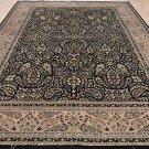 10x14 AREA RUG FINE PERSIAN BLACK TAUPE HANDMADE WOOL