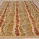 10x14 WOOL AREA RUG HANDMADE MODERN MULTI KNOTTED TRANS