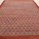 10x14 WOOL AREA RUG HANDMADE MODERN RED LT.BLUE KNOTTED