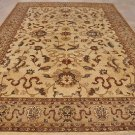 NEW 10x14 WOOL AREA RUG HANDMADE BEIGE IVORY 2X KNOTTED