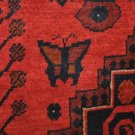 8x11 WOOL HANDMADE RUG BERJESTA RED BLUE AFGHANISTAN