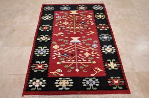 4x6 WOOL HANDMADE AREA RUG GABBEH THICK PILE TRIBAL RED