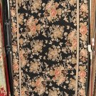 NEW 6x9 WOOL AREA RUG HANDMADE FLORAL AUBUSSON BLACK
