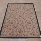 RARE 4x6 FINE WOOL AREA RUG FRENCH AUBUSSON HANDMADE