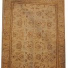 8x10 WOOL HANDMADE RUG IVORY GOLD VEGETABLE DYE MUTED