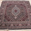 6 FT SQUARE AREA RUG NAVY RED WOOL HAND KNOTTED KITCHEN