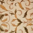 8x10 WOOL AREA RUG HANDMADE IVORY FLORAL GREEN BROWN INDO NEPAL SILK FLOWERS NEW