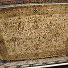 9x12 AREA RUG HANDMADE PERSIAN JAIPUR IVORY GREEN WOOL