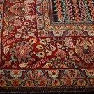 10x14 WOOL AREA RUG PERSIAN SAROUK HANDMADE BLACK RED