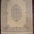8x10 WOOL RUG AUBUSSON IVORY THICK ORIENTAL CARPET NEW