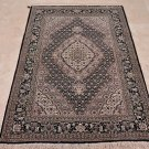 NEW 4x6 WOOL&SILK HANDMADE AREA RUG TABRIZ IVORY BLACK