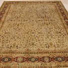 8x10 WOOL HAND KNOTTED AREA RUG IVORY RED MASTERPIECE