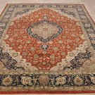 8x10 WOOL HAND KNOTTED AREA RUG RUST BLUE MASTERPIECE