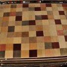 9x12 WOOL RUG MODERN INDO NEPAL HANDMADE IVORY BROWN
