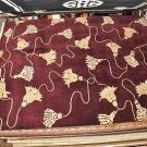 9x12 WOOL AREA RUG PERSIAN INDO NEPAL FINIALS BURGUNDY BEIGE PLUSH MODERN