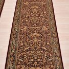 2.5x8 WOOL RUNNER HAND KNOTTED RED BLUE PERSIAN FINE
