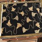 8x10 WOOL RUG INDO NEPAL HANDMADE BLACK FINIALS MODERN