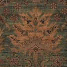 9x12 RUG KASHAN ANTIQUE TEA WASHED RARE GREEN RED MUTED