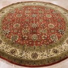 10 FOOT ROUND AREA RUG HANDMADE PERSIAN DINING ROOM RED