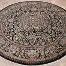 9FT ROUND AREA RUG WOOL PERSIAN HANDMADE FLORAL DINING