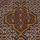 2x3 HANDMADE WOOL AREA RUG DOOR PERSIAN IRANIAN RARE