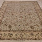 8x10 WOOL HAND KNOTTED AREA RUG TEAL BEIGE MASTERPIECE