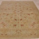 NEW 8x10 WOOL HAND KNOTTED AREA RUG LIGHT GREEN w/ RUST