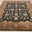 NEW 8x10 WOOL HANDMADE AREA RUG BLACK RED GOLD PERSIAN