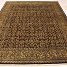 8x10 WOOL HAND KNOTTED AREA RUG BLACK OLIVE MASTERPIECE