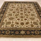 8x10 WOOL HAND KNOTTED AREA RUG BEIGE BLUE MASTERPIECE
