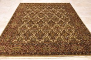 8x10 WOOL HAND KNOTTED AREA RUG BEIGE BURG MASTERPIECE