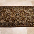4x6 WOOL AREA RUG PERSIAN BEIGE PLUM HAND MADE TUFTED