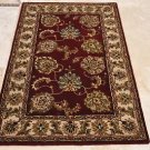 4x6 WOOL AREA RUG PERSIAN RED BEIGE HAND MADE TUFTED