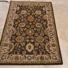 4x6 WOOL AREA RUG PERSIAN BROWN BEIGE HAND MADE TUFTED